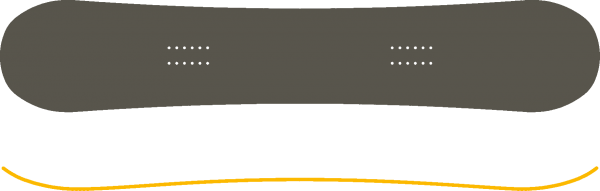 Snowboard Camber profiel