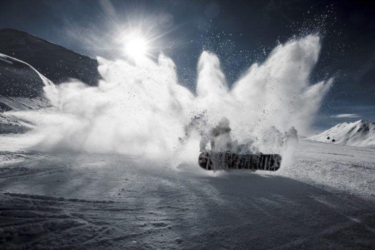 snowboard crash