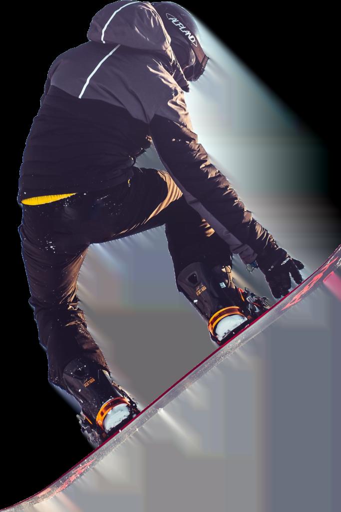 afbeelding van snowboarder die aan freestyle doet