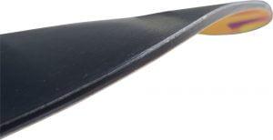 afbeelding van het reverse camber profiel van het Jib Board voor freestyle snowboard