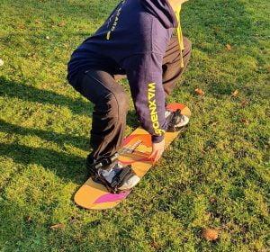 freestyle snowboard oefenen met trampoline board
