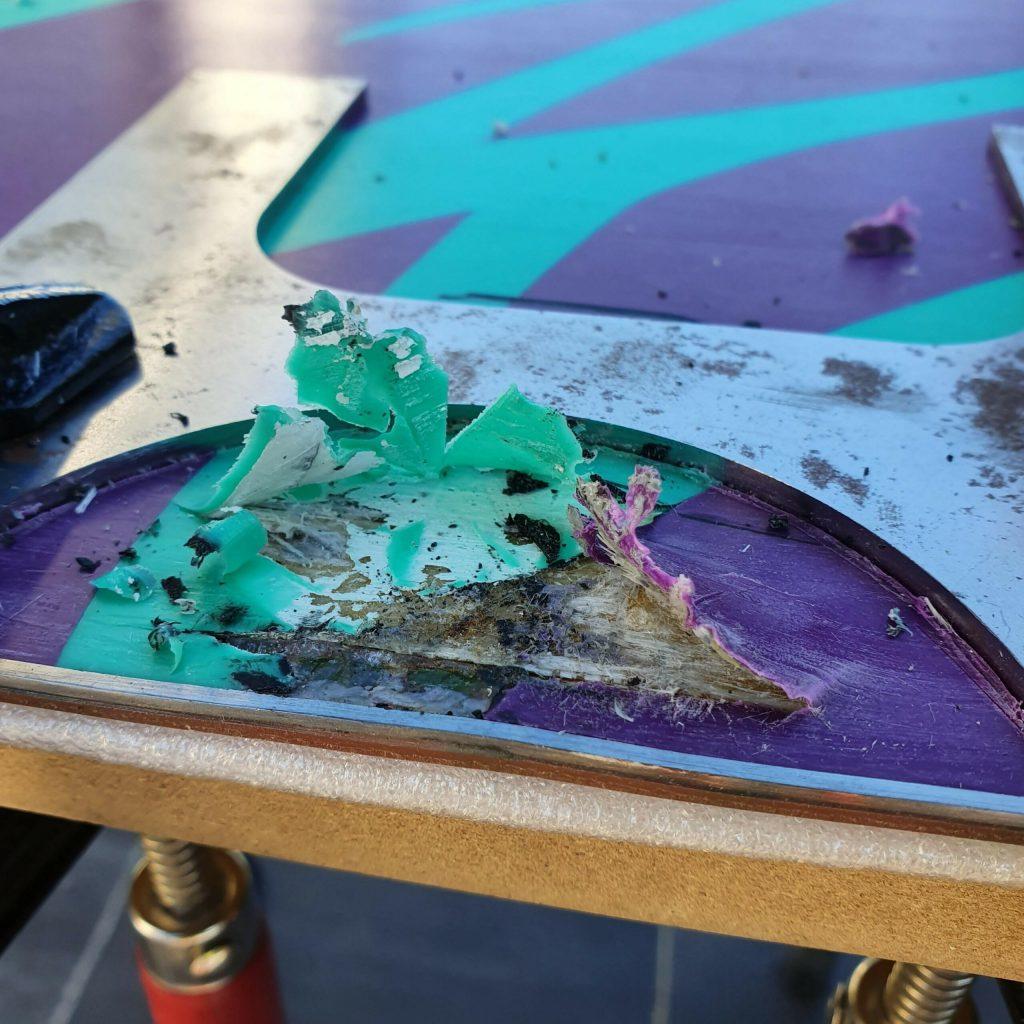 Remove snowboard ptex