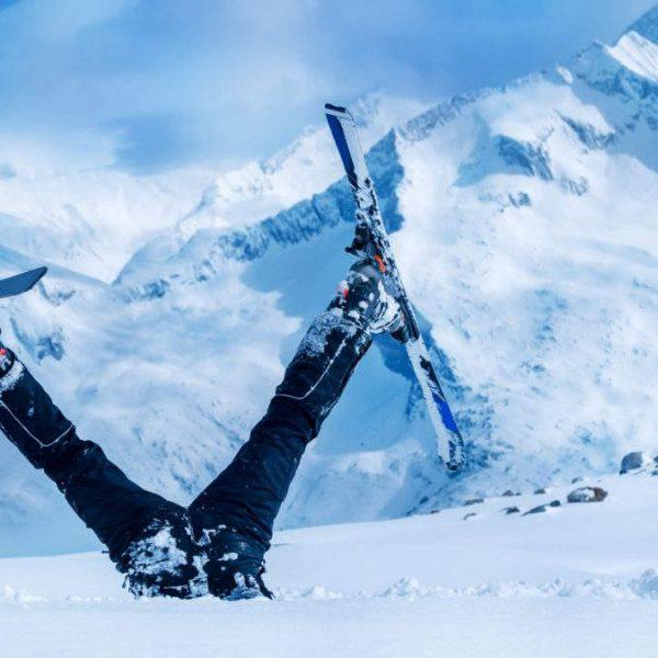 afbeelding van ski ongeval